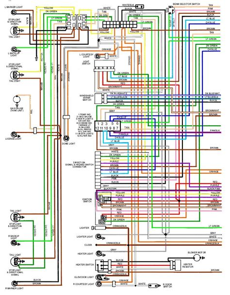 1969 camaro wiring diagram chevy light wiring diagram