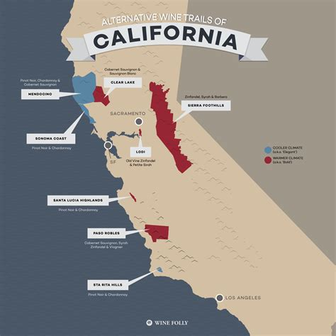 map of northern california wine country california wine growing regions map california map