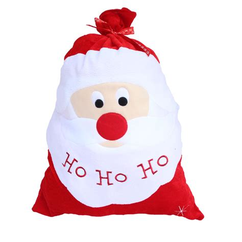 2016 christmas decoration santa large sack stocking big