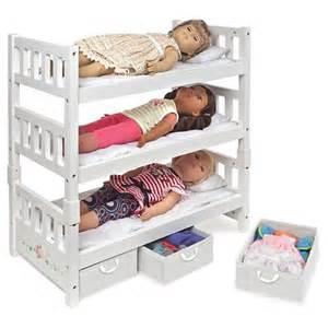 Badger Basket Doll Bunk Bed Badger Basket 1 2 3 Convertible Doll Bunk Bed With Storage Baskets White Target