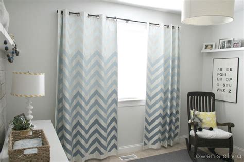 ombre chevron curtains ombre chevron curtains in boys nursery