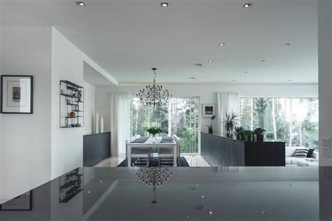 White And Grey Interior by House Design With A Black And White Palette