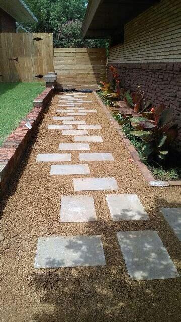 pathway  decomposed granite screenings  rectangular stepping stone designed  shaun
