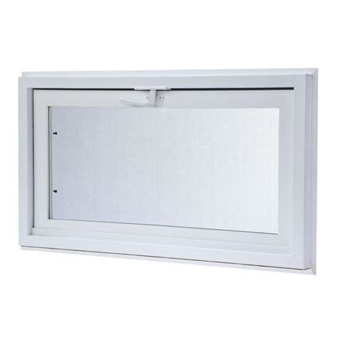 tafco windows 31 75 in x 15 75 in hopper vinyl window