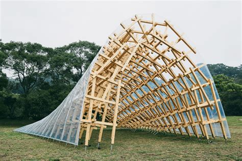 wind architecture kengo kuma sets pavilion in the grounds of a taiwanese hotel