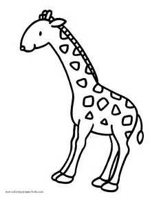 what color are giraffes giraffe coloring page