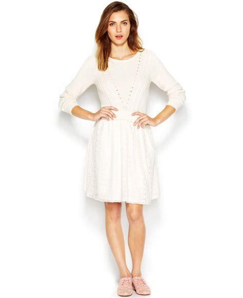Lq 02 Ress Sweater Yiyo White maison jules tulle skirt sweater dress in white lyst