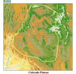 Colorado Plateau Map by Maps Colorado Plateau Cooperative Ecosystem Studies Unit
