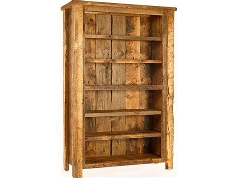 Build bookcase plans, rustic reclaimed wood bookcase