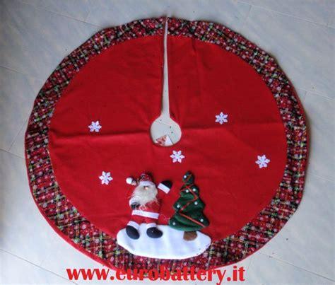 tappeto sotto albero di natale tappeto tondo copribase decorativo albero natale rosso