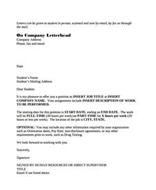 Offer Letter Part Time 42 Sle Offer Letter Template Free Premium Templates