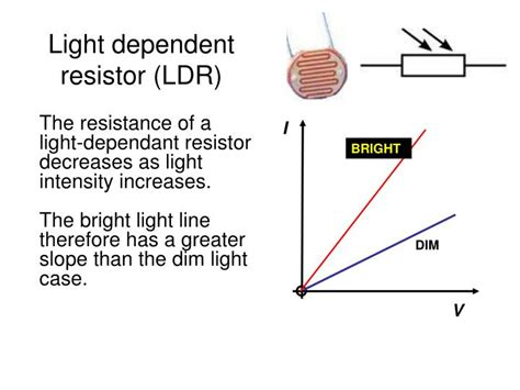 light dependent resistor and their characteristics ppt edexcel igcse certificate in physics 2 4 electrical resistance powerpoint presentation