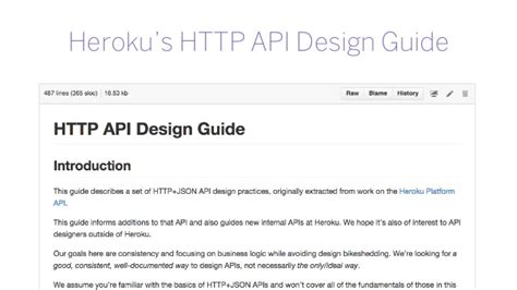 api design guidelines java heroku http api design guide