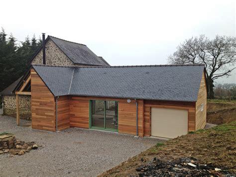 Extension Garage Bois by Derouet Constructeur De Maison Bois En Mayenne 53