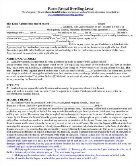 room for rent contract 7 room for rent contracts sles templates pdf doc