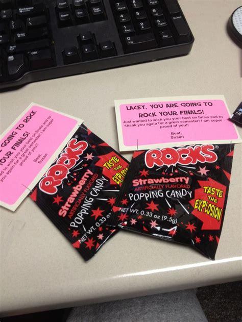 good luck  finals treats  staff gifts pinterest gifts student  dancers