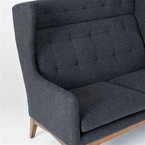 james harrison settee james harrison settee asphalt tweed west elm