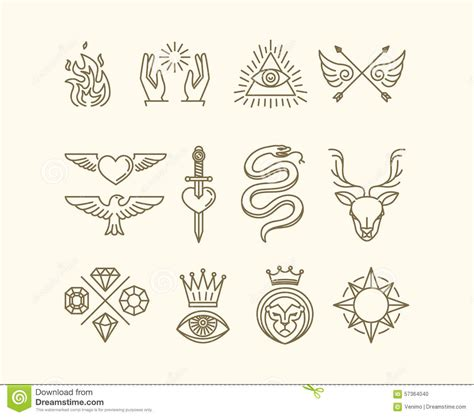 vector tattoo set stock vector image 57364040