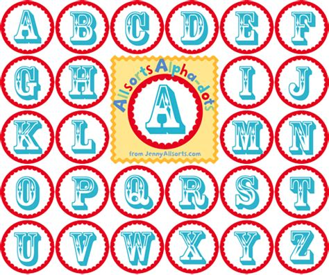 printable alphabet for banner freebie friday again printable quot alpha dots quot allsorts