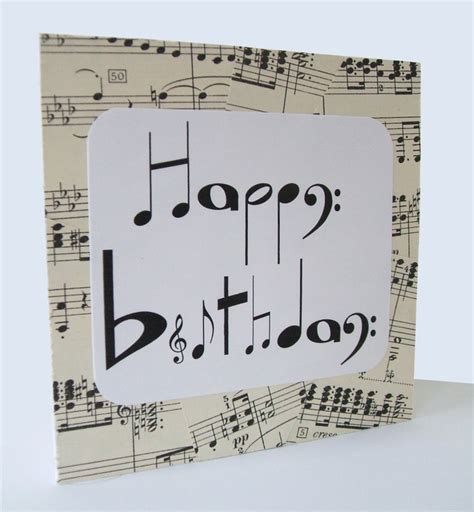 Musical Birthday Cards Chlef Musical Notes Birthday Card By Say It Folksy