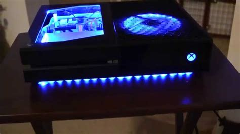 modded xbox one console modded xbox one w color changing leds