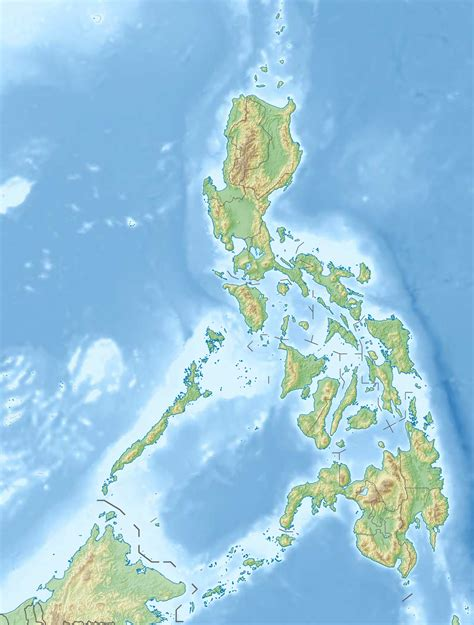 physical map of philippines file philippines relief location map jpg wikimedia commons