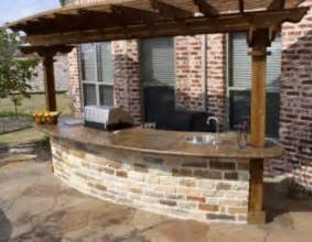 Kitchen Island Base Kits Outdoor Grill Bar Area With Concrete Counter Top