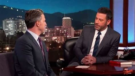 jake tapper gives jimmy kimmel a jimmy kimmel doll inthefame jimmy kimmel tries to get jake tapper to explain his