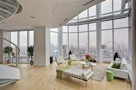 Houzz Modern Living Rooms by Chelsea Duplex Penthouse Modern Living Room New York