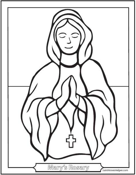 mary rosary coloring sheet
