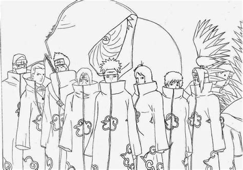 Naruto Coloring Pages Akatsuki | naruto akatsuki coloring pages for kids and for adults