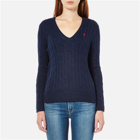 ralph womens knitted jumper polo ralph s jumper navy free uk delivery 163 50
