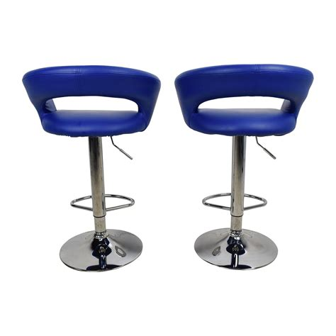 Bar Stools Modern Leather by 79 All Modern All Modern Blue Leather Adjustable