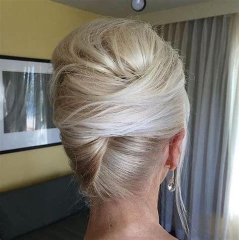 elderly long hair french bun wig 50 stylish french twist updos