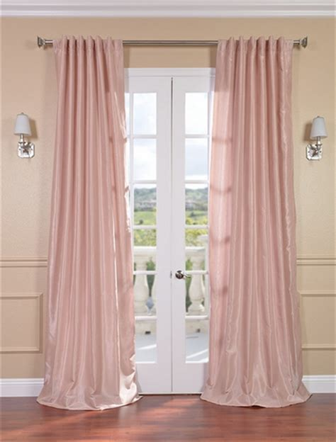 pink silk curtains savings on vintage textured faux dupioni silk curtains