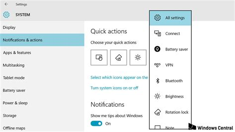 dropbox quick action button how to change your quick action buttons in windows 10