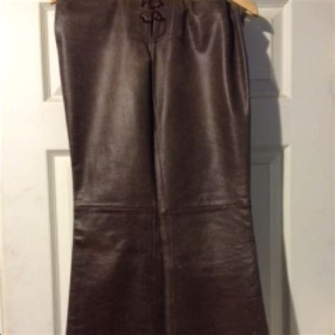 Guess Genuine Leather 76 guess guess brown genuine leather bootcut