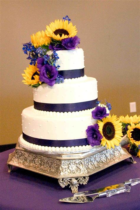 Wedding Cakes With Yellow And Purple Flowers by Purple And Yellow Wedding Cakes Www Pixshark