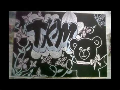 imagenes de amor para dibujar en cartulina tkm en graffiti dibujo en pliego de cartulina negra con