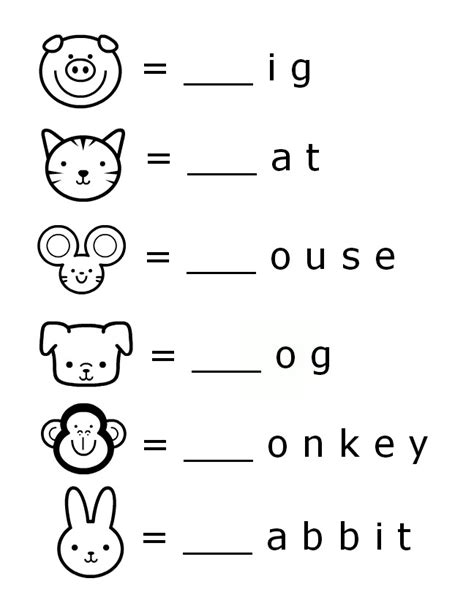 printable animal words coloring pages preschool printable beginning sounds