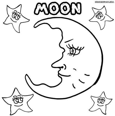 moon coloring pages moon coloring pages coloring pages to and print
