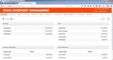 bootstrap templates for inventory management stock inventory management download sourceforge net