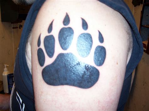 bear paw tattoo meaning paw meaning collection