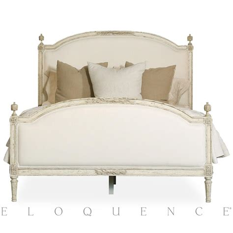 country bed eloquence 174 dauphine queen bed in weathered white kathy