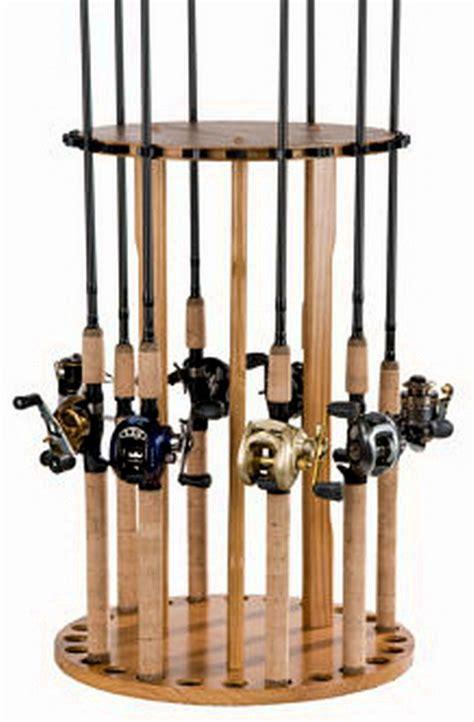 Fishing Pole Storage Rack by New Rotating Fishing Rod Rack 24 Pole Storage Holder