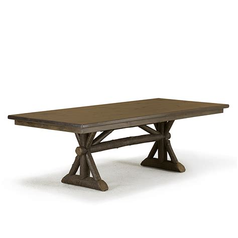 rustic trestle dining table rustic trestle dining table la lune collection