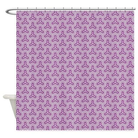 Geometric Pattern Curtains Purple Geometric Pattern Shower Curtain By Cuteprints