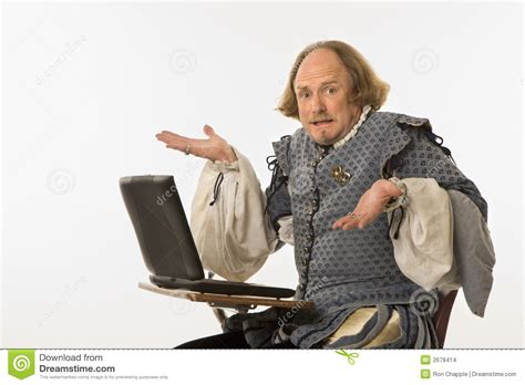 Bathtub Laptop Shakespeare With Computer Stock Images Image 2678414