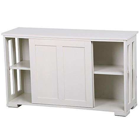 Sliding Door Buffet Cabinet Go2buy Antique White Stackable Sideboard Buffet Storage Cabinet With Sliding Door Kitchen Dining
