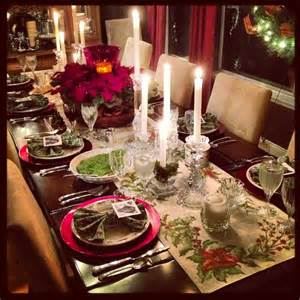 christmas dinner table settings christmas dinner table setting christmas fun pinterest